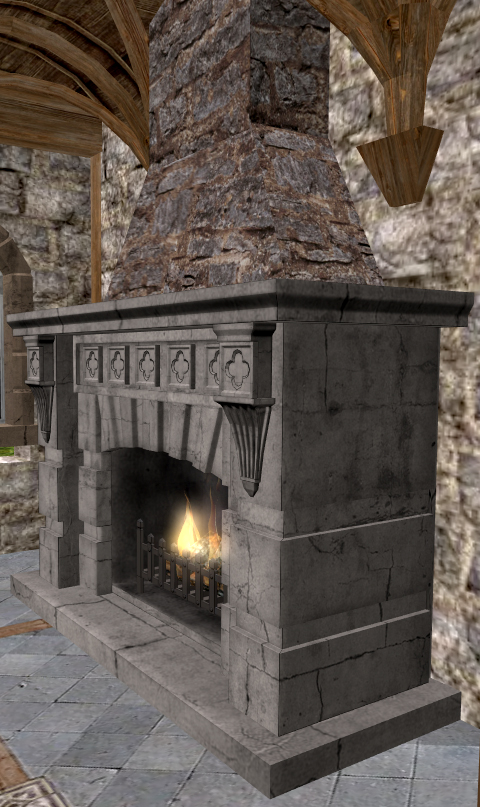 Fireplace My Black Rose